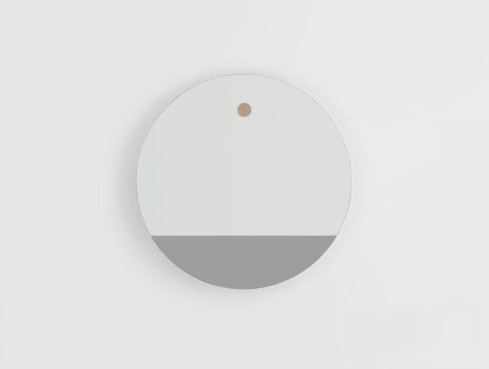 Miroir-rond-linatelier_décoration_déco_intérieur_design_made-in-france_mur_déco_HETCH-Horizon-1_bi-teinte_gris_chêne-massif_vendée