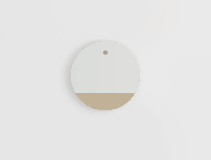 Miroir-rond-linatelier_décoration_déco_intérieur_design_made-in-france_mur_déco_HETCH-Horizon-1_bi-teinte_bronze_chêne-massif_vendée_face
