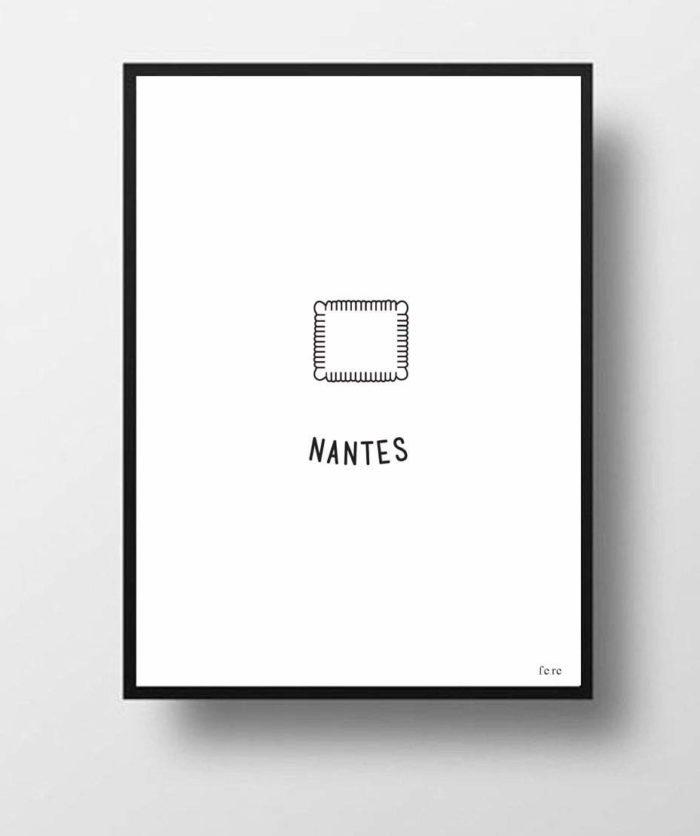 FERE_affiche_Nantes_noir-et-blanc_minimaliste_illustration_design_ville_linatelier_décoration_déco_numéroté_000x