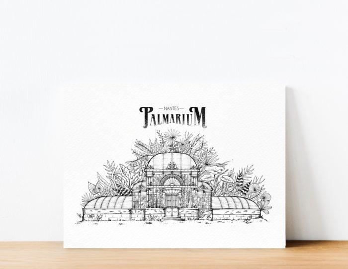 Palmarium_affiche palmarium -Geoffrey Berniolle_illustration_ studio mâtcha - nantes - linatelier - _poster_cadre_décoration_mur_intérieur